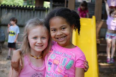 Happy preschoolers at ECM day care in Huntsville